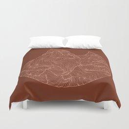 Terracotta Peaks Duvet Cover