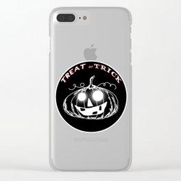 Pumpkin:Treat or Trick Clear iPhone Case