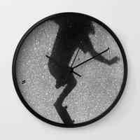 skate Wall Clocks featuring Skate by Keepcalmdude