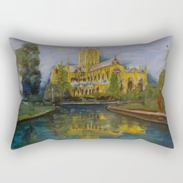 City of Wells in Somerset - Cathedral Rectangular Pillow