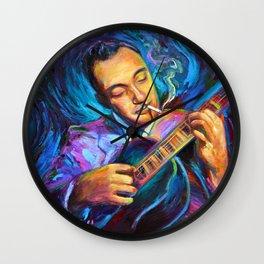 Gypsy Jazz Guitarist Django Reinhardt by Robert Phelps Wall Clock