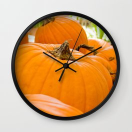 Pumpkin Patch Landscape Wall Clock