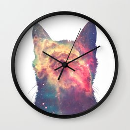 space in cat Wall Clock