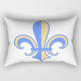 Two Tone Fleur-de-Lis Rectangular Pillow