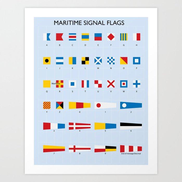Maritime Signal Flags Poster Kunstdrucke