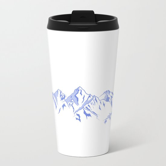 Mountains Metal Travel Mug