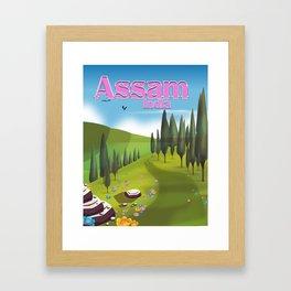 Assam, India Tea travel poster Framed Art Print