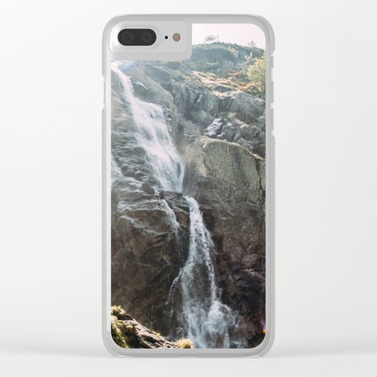 Waterfall In Sunlight Clear iPhone Case