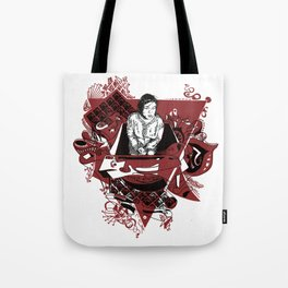 Girl in a triangle Tote Bag