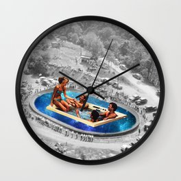 Vintage jacuzzi Wall Clock