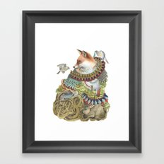 Quilted Comrades in the Forest Framed Art Print