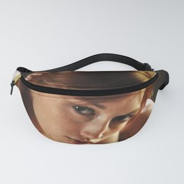 6016-AMS Young Nude Art Model with Death Head Tattoo on Shoulder Fanny Pack