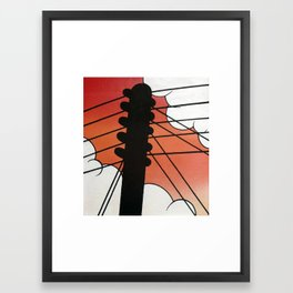 Cloud Pole Framed Art Print