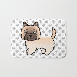 Cute Wheaten Cairn Terrier Dog Cartoon Illustration Bath Mat