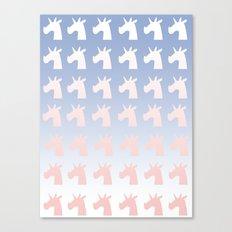 New Year, Colors, Unicorns Canvas Print