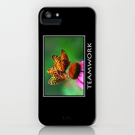 Inspirational Teamwork iPhone Case