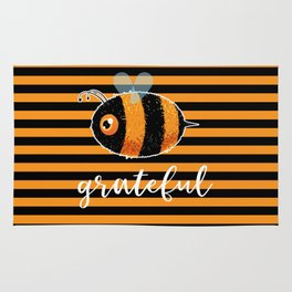 Be (Bee) Grateful Cute Funny Gift Women Men Boys Girls Kids Rug