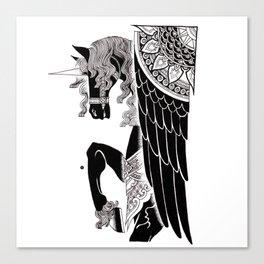 one winged unicorn Canvas Print