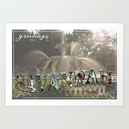 Greetings from Savannah 2 Art Print