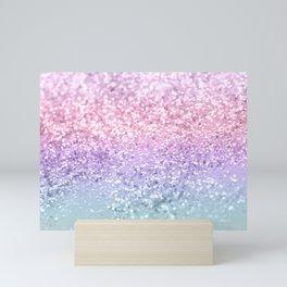 Unicorn Girls Glitter #1 #shiny #pastel #decor #art #society6 Mini Art Print