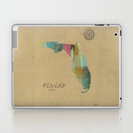 Florida state map Laptop & iPad Skin