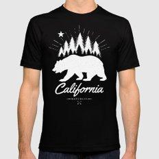 California Republic Black MEDIUM Mens Fitted Tee