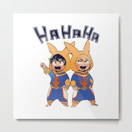 Boku no Hero - HaHaHa Metal Print