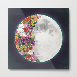 Flower Moon Metal Print