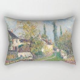Alfred Sisley - A path at Les Sablons, 1883 Rectangular Pillow