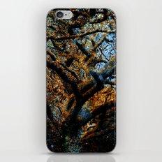 Mystic Tree of Knowledge Blue Brown iPhone & iPod Skin