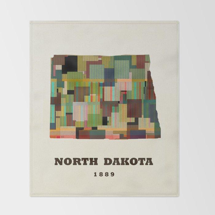North Dakota state map modern Throw Blanket by bribuckley | Society6