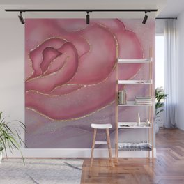 Gold Edged Rose Wall Mural
