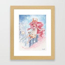 Fly on you Golden Girl Framed Art Print