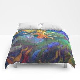 Hestia & The Mermaid PILLOW/SHOWER CURTAIN #A Comforters