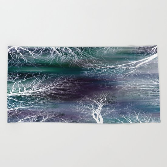 Midnight Purple Teal Beach Towel