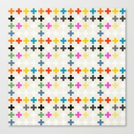 Cross Pattern Canvas Print