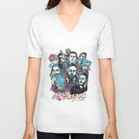gaming V-neck T-shirts featuring Inside Gaming by MikeRush
