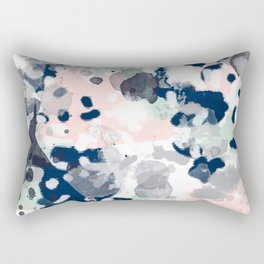 Tate - abstract modern minimal painting art nursery baby office home decor minimalist modern nursery Rectangular Pillow