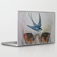 sparrow Laptop & iPad Skins featuring Sparrow by Michael Creese