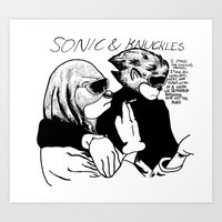 sonic youth Art Prints featuring Sonic & Knuckles Youth Goo by Cvvo