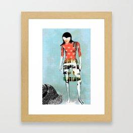 Girl with Snail Framed Art Print