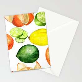 Watercolor citruses Stationery Cards