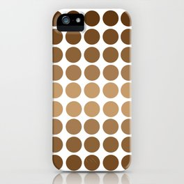 Monochrome Brown Circles iPhone Case