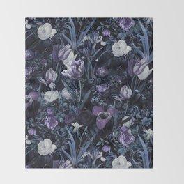 EXOTIC GARDEN - NIGHT XII Throw Blanket