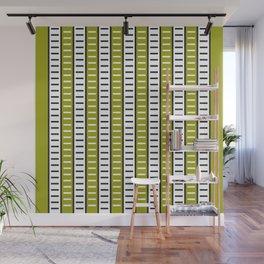 Stripes Pattern 203 (green stripes) Wall Mural