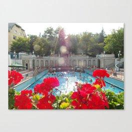 Budapest Bath Canvas Print