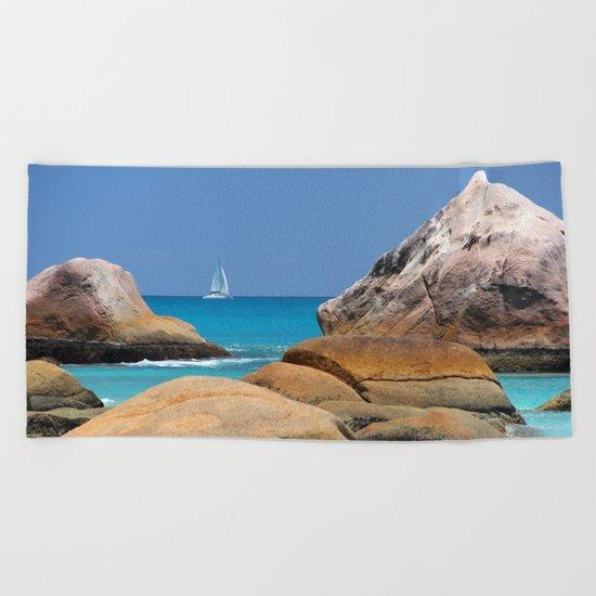 Sea Seychelles Beach Towel