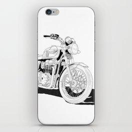 Freedom on a motorbike iPhone Skin