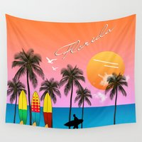 florida Wall Tapestries featuring Florida  by mark ashkenazi