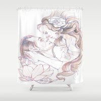 rapunzel Shower Curtains featuring rapunzel by paolo de jesus